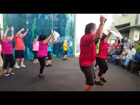 "Seniors Over Sixty Flash Mob ""For a Porpoise"" at Aquarium of the Pacific - 2016!"