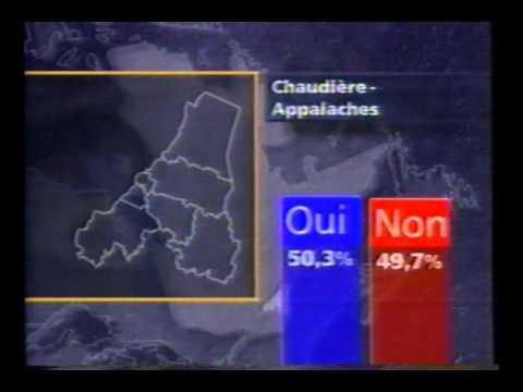 Québec - Référendum 95 - Tournée finale des résultats