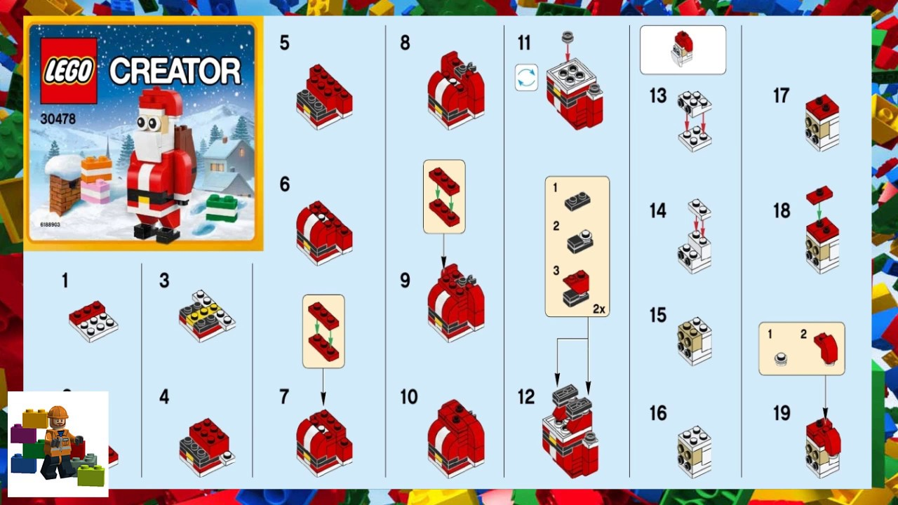 how to make a lego santa