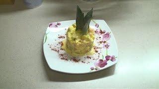 видео Гавайский салат с ананасами и курицей