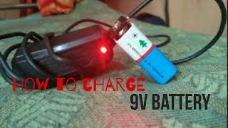 {Hindi}  How to charge a 9v battery Easy Tips 