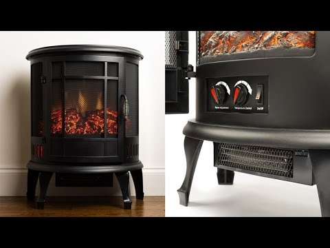 E Flame USA Regal Electric Fireplace 22 Inch Portable Electric Fireplace  With 1500W Space Heater