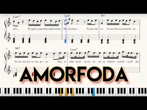 """amorfoda""---partitura-(sheet-music)-+-piano-tutorial---bad-bunny-|-george-vidal"