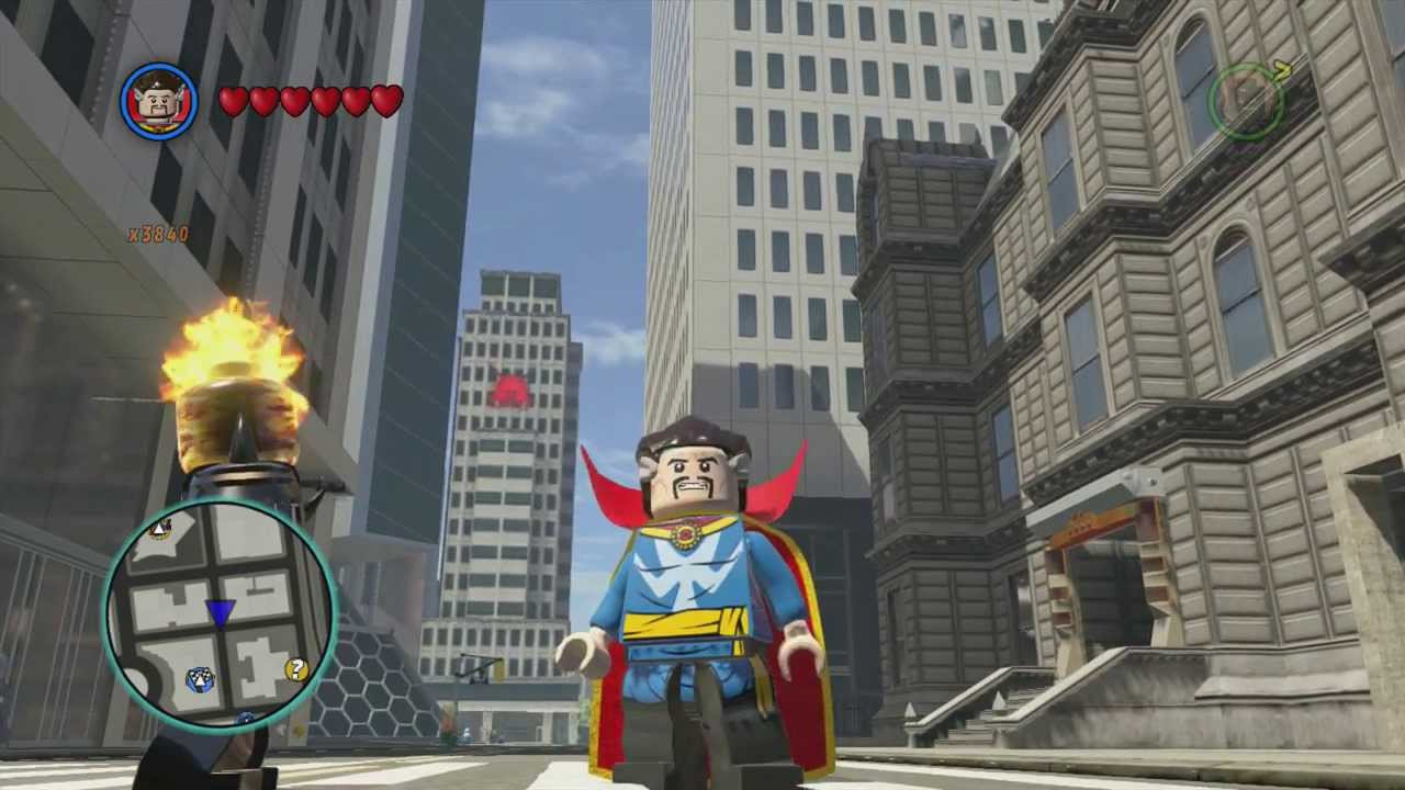 Lego Marvel Superheroes Doctor Strange Free Roam Gameplay Youtube