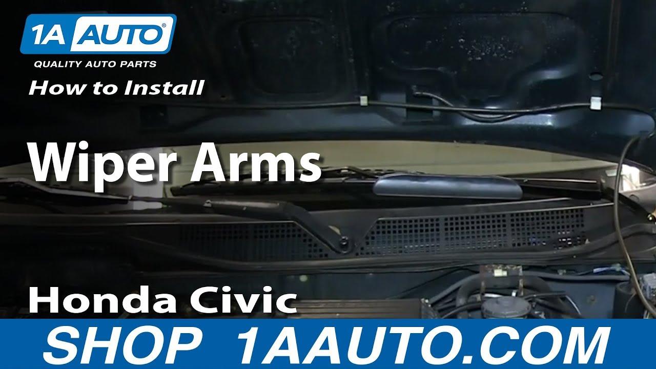 How to replace windshield wiper motor honda civic