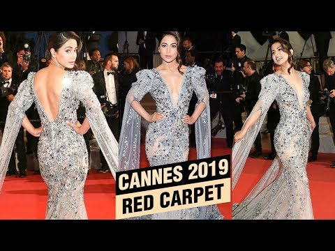 Hina Khan GLAMOROUS Gown At Cannes 2019 Red Carpet | FIRST LOOK