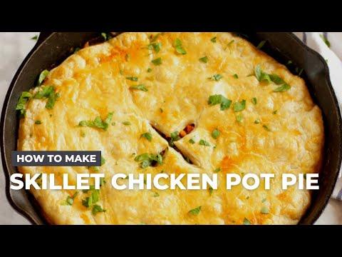 Easy Skillet Chicken Pot Pie Recipe