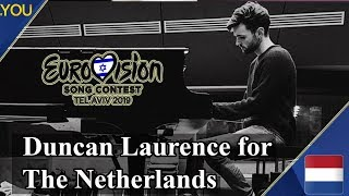 Duncan Laurence representing the Netherlands at Eurovision 2019