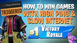 HOW TO WIN | Winning With High Ping (Fortnite Battle Royale)