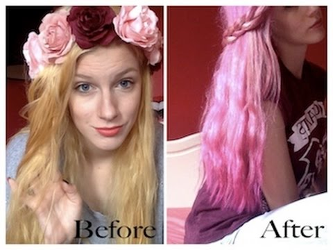 How I went from: Brassy bleached hair to (pastel) PINK - YouTube
