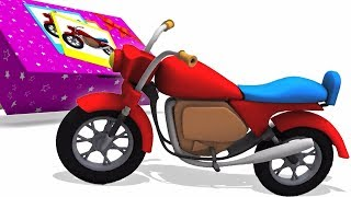 Pyörän Unboxing | oppia ajoneuvoja lasten sarjakuva | Bike Unboxing Video | Cartoon For Kids