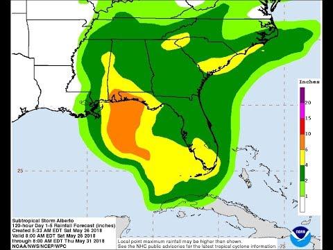 TROPICAL STORM WARNINGS WEST COAST FLORIDA & NW FLORIDA TO ALABAMA ALBERTO MOVING NORTHWARD