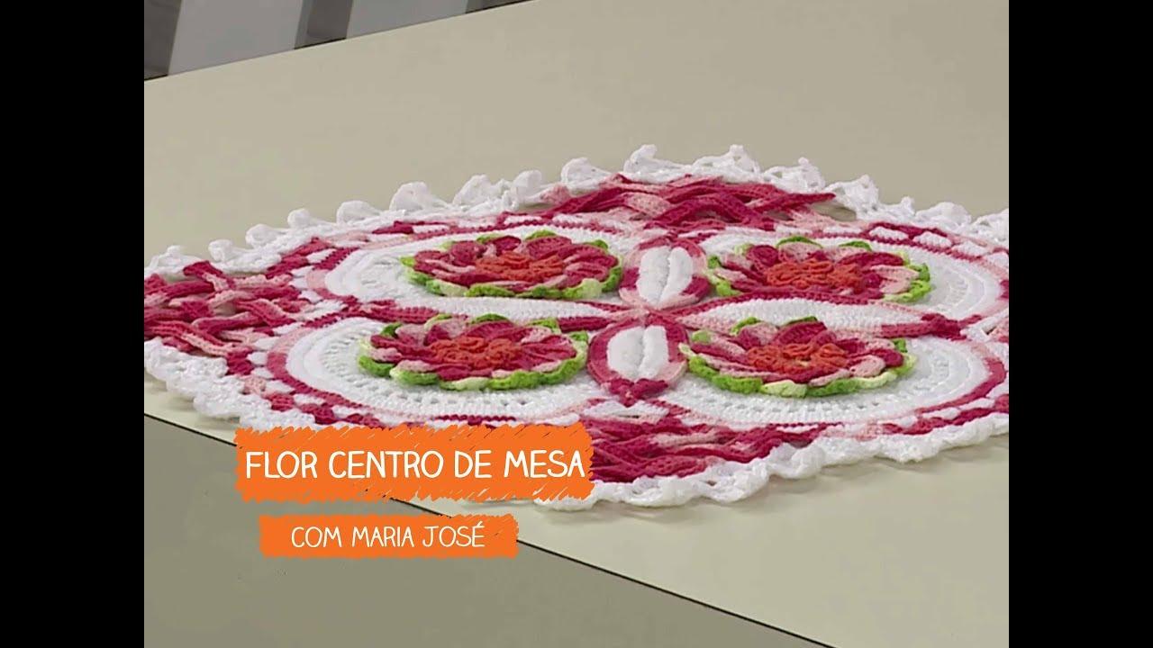 Flor Centro de Mesa com Maria José Vitrine do Artesanato na TV Rede Família YouTube