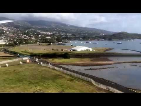 2016/11/26 Papeete airport landing AZ40 AKL-PPT