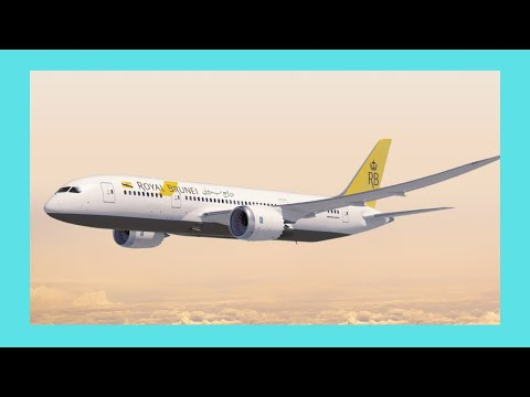 BRUNEI, take off with Brunei Royal Airlines,  Boeing 777 (flight to Melbourne)