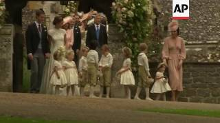 Pippa Middleton leaves church after wedding