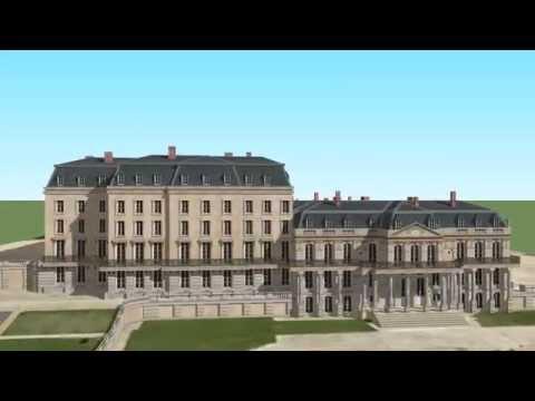 Film 3D faisant le tour du Château de Saint-Cloud