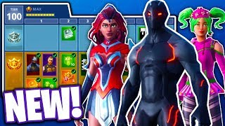 *ALL NEW* ITEMS IN FORTNITE SEASON 4 BATTLE PASS!!! (Fortnite Battle Royale)