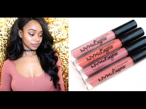 9d884c24d52 New Shades! | NYX Lip Lingerie Lip Swatches - YouTube