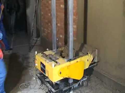 видео: Автоматическая штукатурная машина