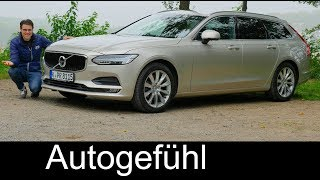 Volvo V90 FULL REVIEW D3 Momentum FWD MHD test 2017/2018 - Autogefühl