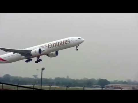 Emirates Taking Off From Lahore