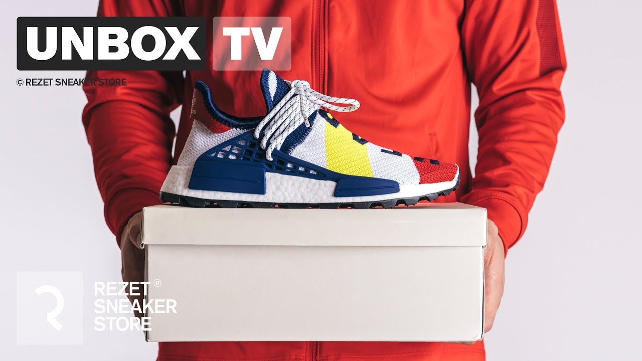 hot sale online 2b141 1a0c3 Unboxing - adidas NMD Human Race X BBC