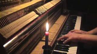 Again white campanulas. solo piano. romantic piano music