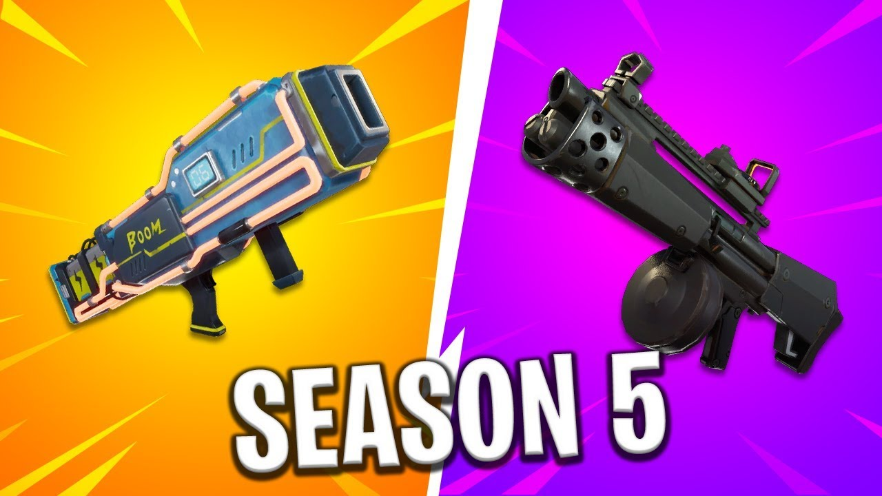 New Season 5 Weapons Early Look Laser Gun Shotguns And More