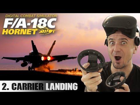 DCS F/A-18 Hornet in VR Part 2: Aircraft Carrier Takeoff & Landing