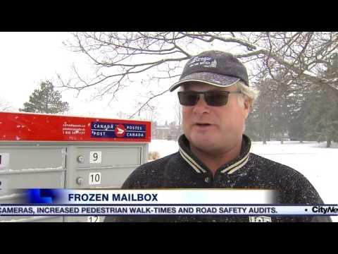 Video: Community mailboxes frozen shut