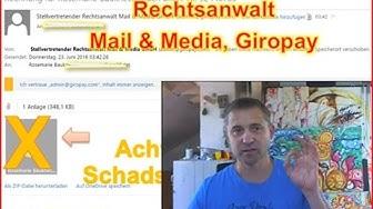 Achtung: Rechnung von Rechtsanwalt Mail Media Giropay