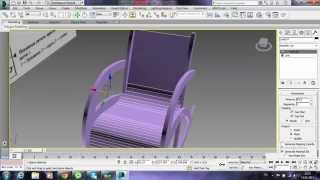 Simulate the rocking chair in the drawing (part 1) 3ds max Shavshukov V