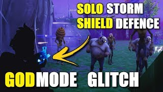 *NEW GODMODE GLITCH* How To Solo Any Storm Shield Defence On Fortnite Save The World | Insane Glitch