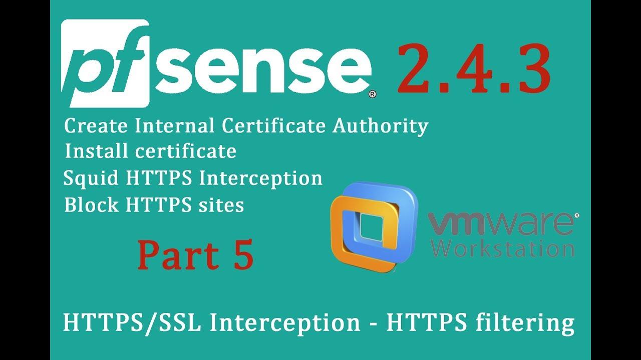 Pfsense 243 Squid Httpsssl Interception Https Filtering