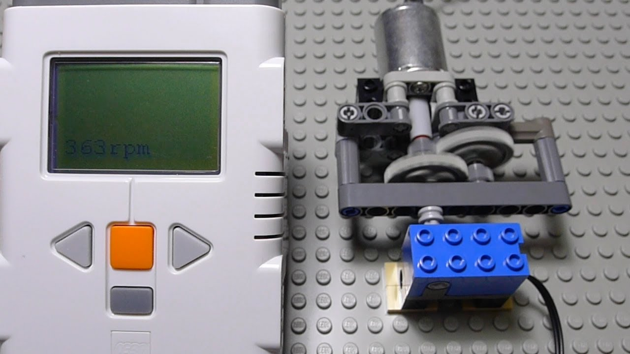 Lego Motor Speed Meter By Nxt And Rcx Rotation Sensor