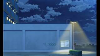 anime background Roof of a AEON mall night YouTube