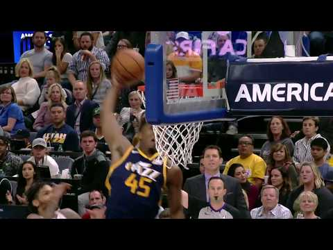 Utah Jazz rookie Donovan Mitchell's INSANE Putback Hammer Against the LA Lakers (VIDEO)