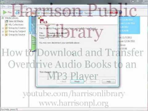 Download and Transfer Overdrive Audio Books