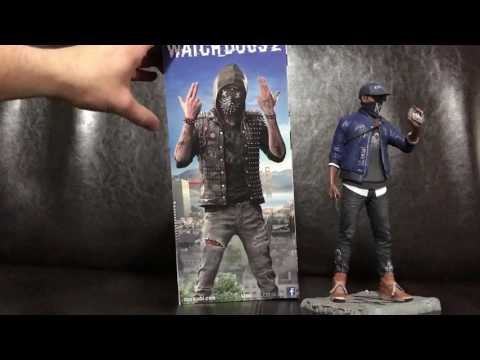 WATCH_DOGS 2 Marcus & Wrench Ubi Collectibles Figurine Unboxing! (Watchdogs 2)