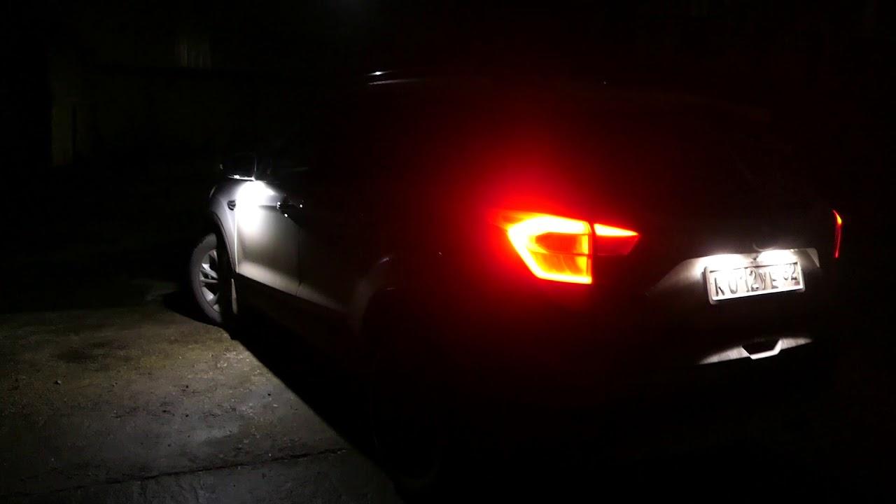 led lights  ford kuga  youtube