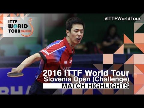 2016 Slovenia Open Highlights: Jun Mizutani vs Joo Se Hyuk (1/2)