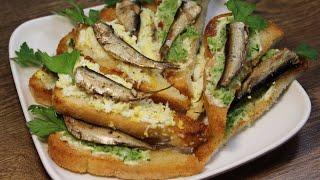 Вкусные закуски | Бутерброды со шпротами | Готовим дома | Alechka Lebedeva