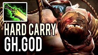 HARD CARRY PUDGE IS BACK! Intense Game with Ethereal Blade by Gh.God Dota 2