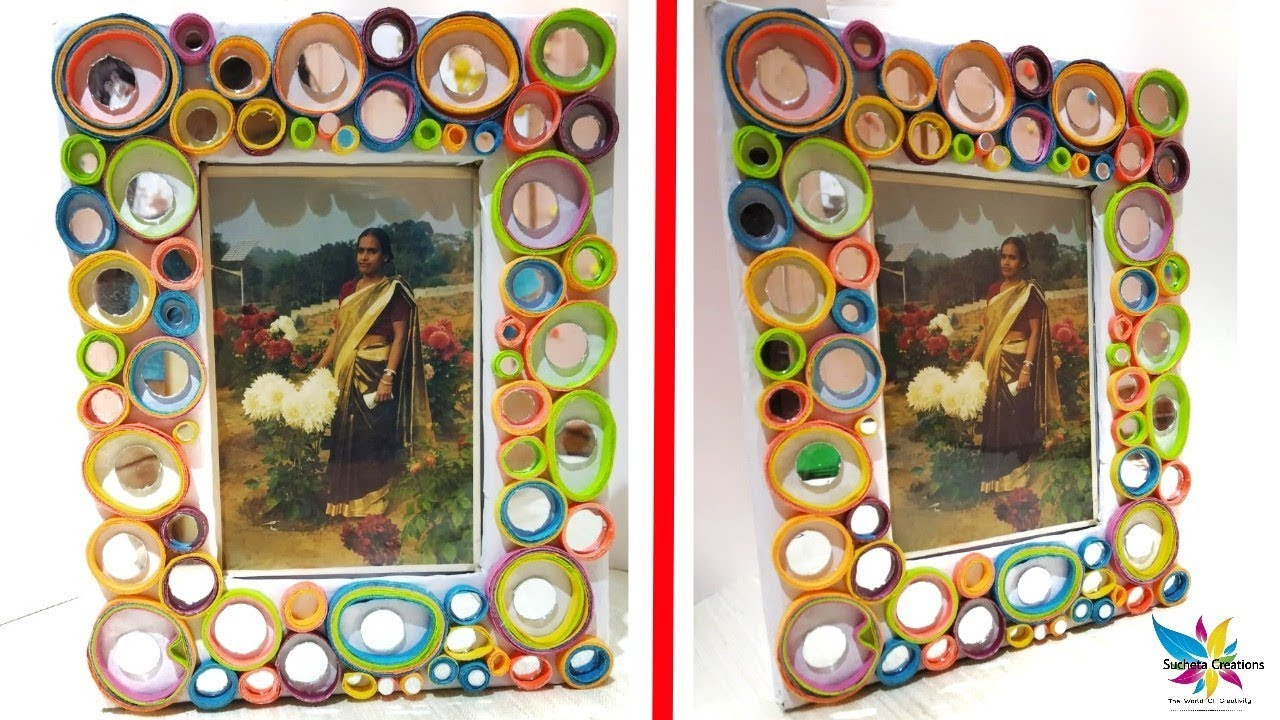 how to make photo frame at home with cd