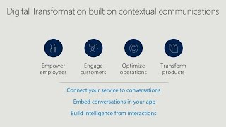 Create new experiences with the Office 365 Communications Platform - BRK2197
