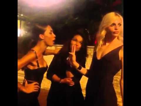 Andrej Pejic, Ines Rau & friend in Monte Carlo