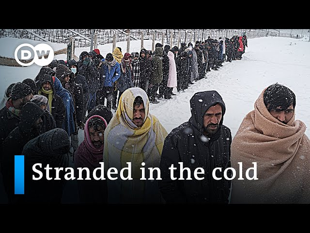 Refugees stuck in winter shelters at EU border in Bosnia   DW News