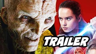 Star Wars The Last Jedi Trailer - Snoke Force Powers and Rey Ending Theory