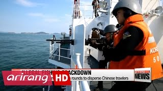 Coast Guard fires machine gun rounds to disperse Chinese trawlers fishing illegally